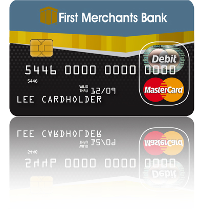 Graphic of First Merchants Bank Business Debit Card